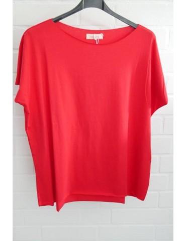 Lindsay Damen Shirt kurzarm rot red mit Baumwolle Onesize 38 - 44