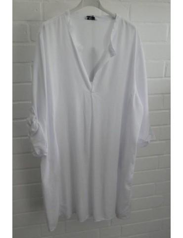 Xuna klassische Damen Tunika Bluse Shirt weiß white Viskose Onesize 38 - 46