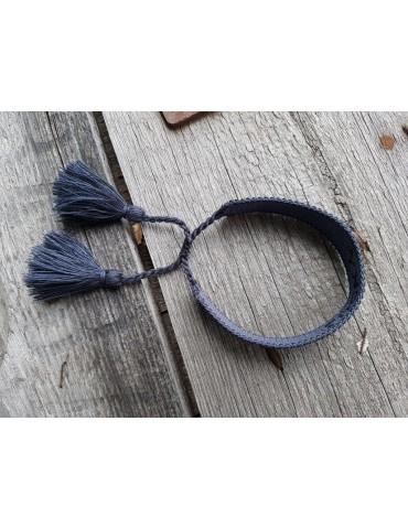 Web Armband mit Trotteln...