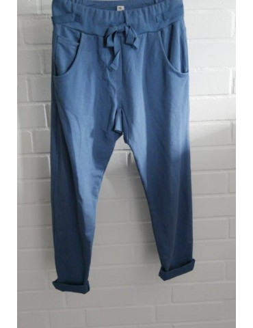 Wendy Trendy Jogginghose JoggPants Damenhose Hose jeansblau blau mit Verstellband