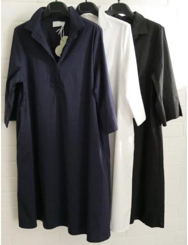 ESViViD Damen Tunika Bluse Kleid dunkelblau...