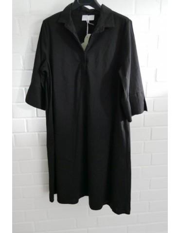 ESViViD Damen Tunika Bluse Kleid schwarz black mit Baumwolle