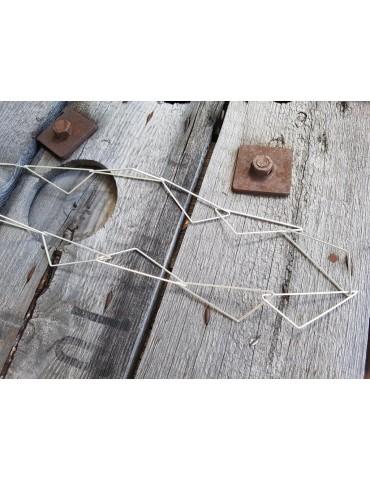 A-Zone Modeschmuck Glieder Kette Halskette lang silber silver Metall