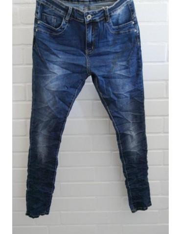 Jewelly Damen Jeans Hose blau verwaschen mit Baumwolle JW 1521