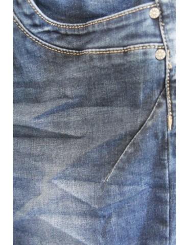 Jewelly Damen Jeans Hose blau verwaschen mit...