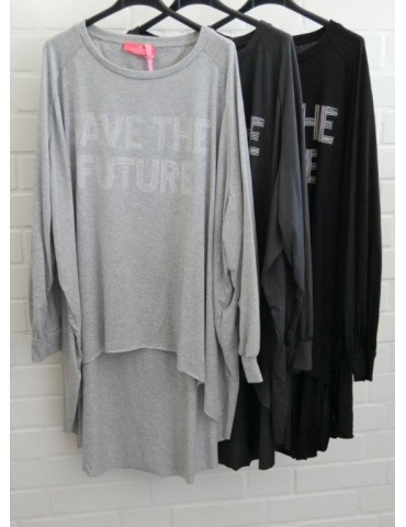XXXL Big Size T- Shirt langarm schwarz weiß...
