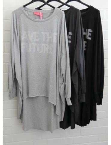 XXXL Big Size T- Shirt langarm hellgrau weiß...