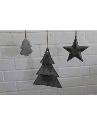 Deko Metall Weihnachtsbaum Zink Vintage klein...