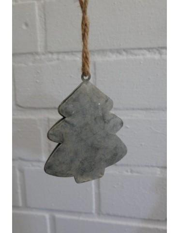 Deko Metall Weihnachtsbaum Zink Vintage klein Adventszeit