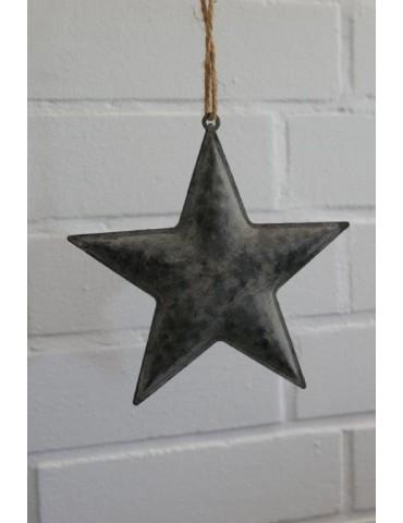 Deko Metall Stern Star Zink Vintage klein Adventszeit