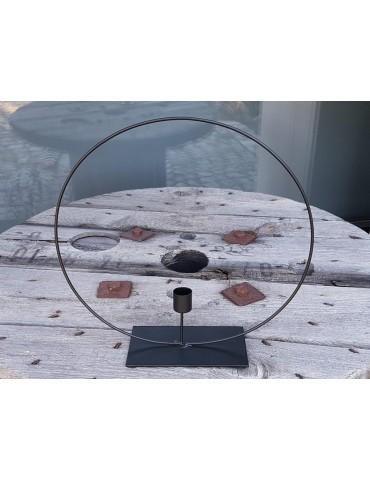 Stehender Kerzen Ring Metall schwarz black Adventszeit