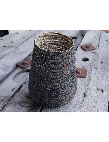 Teelicht Teelichtglas Kerze Metall Gitter schwarz gold