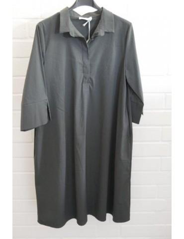 ESViViD Damen Tunika Bluse Kleid anthrazit grau mit Baumwolle