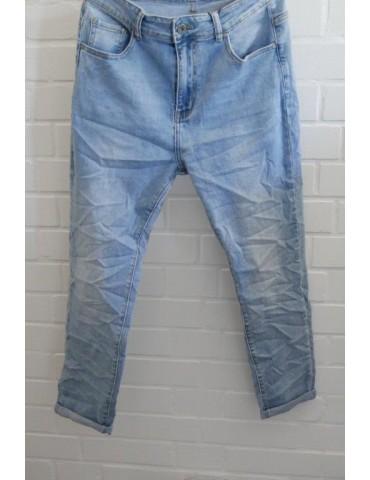 Bequeme Jeans Hose Boyfriend Damenhose hellblau verwaschen Gr. L 38 40