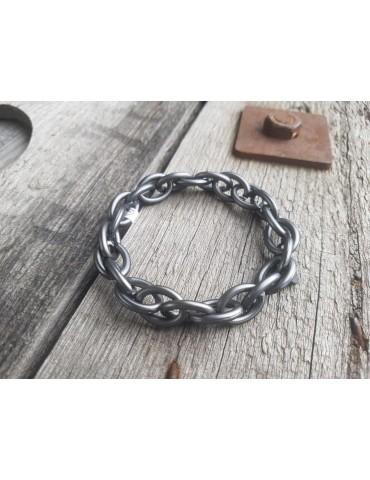 Trendiges Gliederarmband Elastisch anthrazit grau Kunststoff Metall Onesize