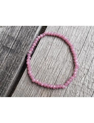 Armband Kristallarmband Perlen altrose rosa klein Glitzer Schimmer elastisch