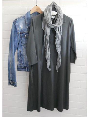ESViViD Damen Tunika Bluse Kleid anthrazit grau...