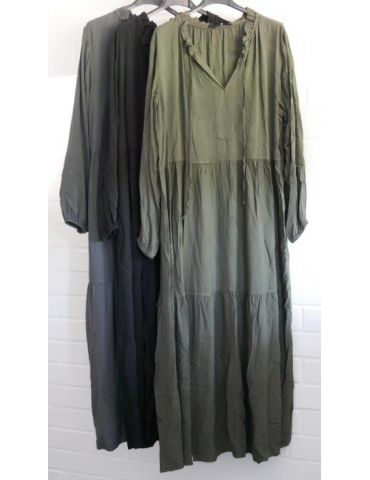 Damen Midikleid Maxikleid oliv khaki grün...
