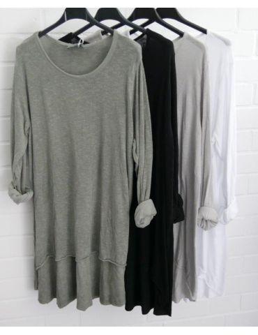 ESViViD Damen Tunika Shirt A-Form langarm khaki...