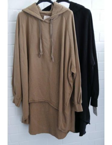 XXXL Big Size Hoodie Sweat Shirt langarm camel...