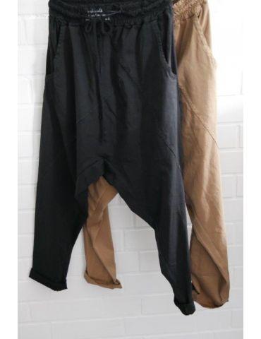 Bequeme Sportliche Damen Hose Baggy schwarz...