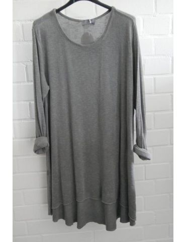 ESViViD Damen Tunika Shirt A-Form langarm grau Baumwolle Onesize ca. 38 - 44