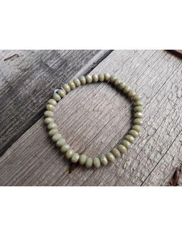 Armband Kristallarmband Perlen lindgrün groß Glitzer Schimmer elastisch