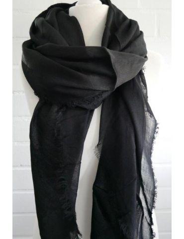 Bijoux Dreieckstuch Schal schwarz black uni edel klassisch