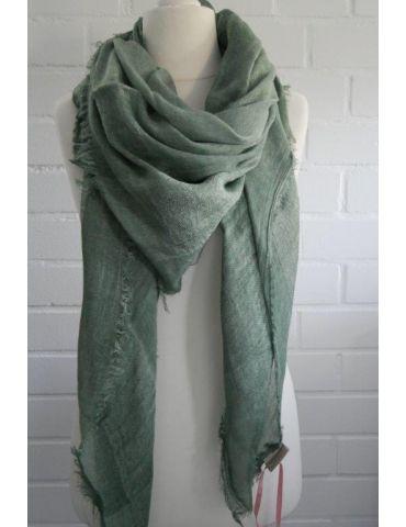 Bijoux Dreieckstuch Schal khaki oliv grün uni edel klassisch