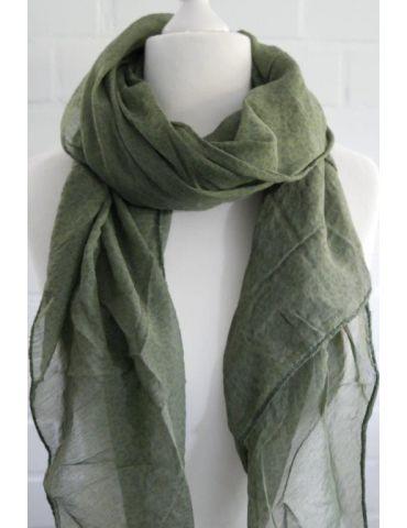 Tuch Loop Made in Italy Seide Baumwolle khaki oliv grün Kleines Leo