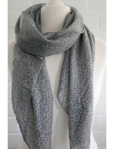 Tuch Loop Made in Italy Seide Baumwolle grau grey Kleines Leo