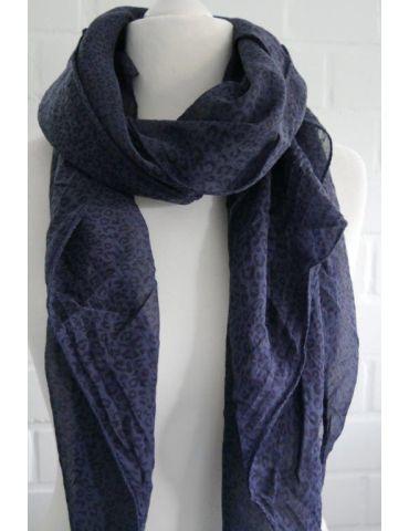 Tuch Loop Made in Italy Seide Baumwolle dunkelblau schwarz Kleines Leo
