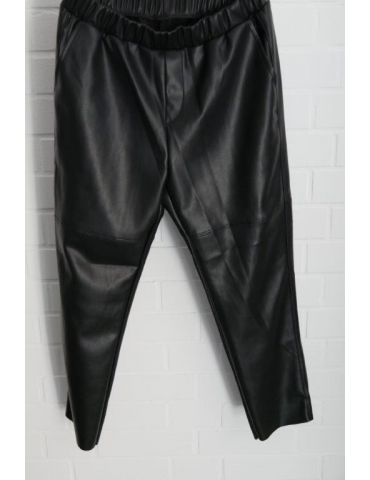 Weitere Coole Lederimitat Damen Hose schwarz black