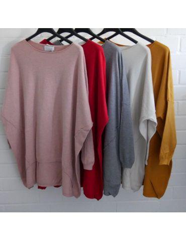 ESViViD Damen Pullover pink Rundhals Onesize...