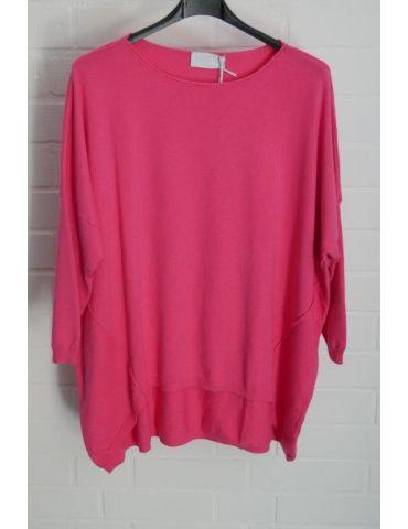 ESViViD Damen Pullover pink Rundhals Onesize ca. 38 - 46 mit Viskose 2232