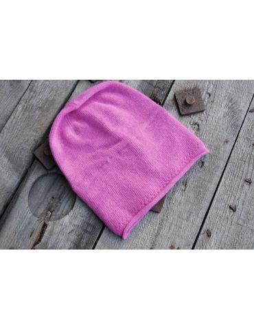 Zwillingsherz Mütze Beanie Classic pink uni ohne Stern mit Fleece u Kaschmir