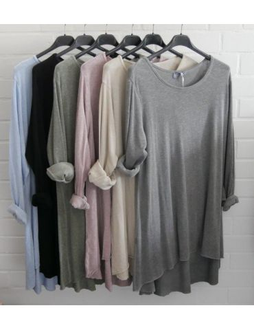 ESViViD Damen Tunika Shirt A-Form langarm beige...