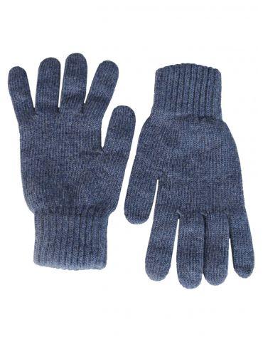 Zwillingsherz Handschuhe Fingerhandschuhe Classic jeansblau blau uni mit Kaschmir