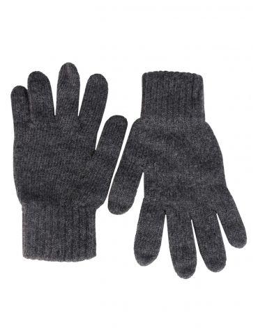 Zwillingsherz Handschuhe Fingerhandschuhe Classic anthrazit grau uni mit Kaschmir