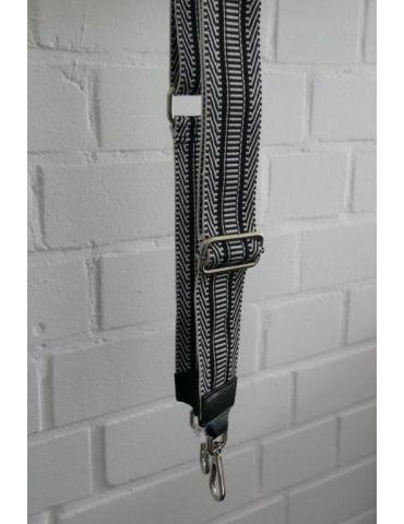 Taschen Gurt Handtasche Gürteltasche schwarz weiß Phantasiemuster