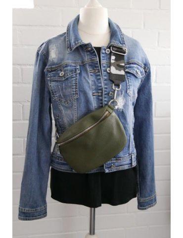 Taschen Gurt Handtasche Gürteltasche silber...