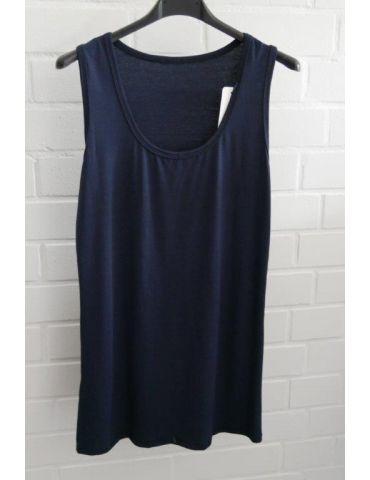 Damen Basic Top Shirt dunkelblau blau marine mit Viskose Onesize 38 - 42