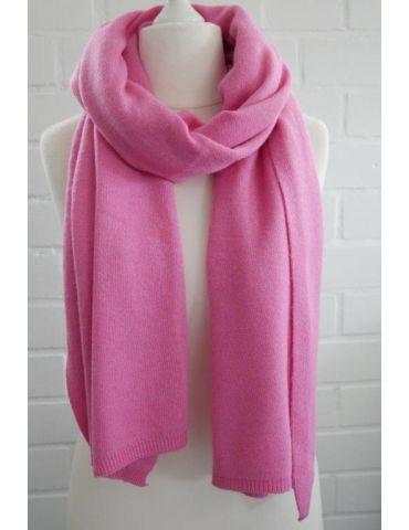 ESViViD XXL Schal Stola Poncho pink uni mit Kaschmir Made in Italy