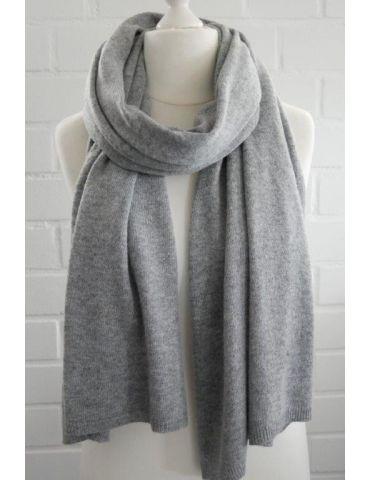 ESViViD XXL Schal Stola Poncho grau grey uni mit Kaschmir Made in Italy
