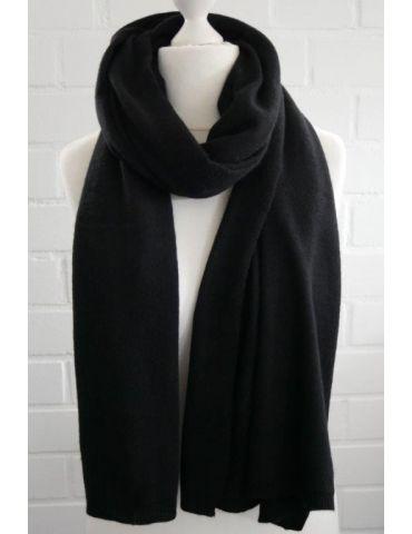 ESViViD XXL Schal Stola Poncho schwarz black uni mit Kaschmir Made in Italy