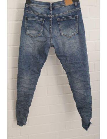 Jeans Hose Damenhose blau verwaschen...