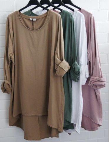 Damen Shirt langarm camel...