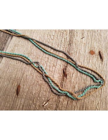Modeschmuck Kette Halskette lang grün braun grau Metall