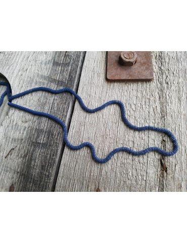 Bijoux Modeschmuck Kette Damen Halskette lang dunkelblau Metall