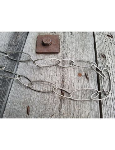 A-Zone Modeschmuck Glieder Kette Damen Halskette lang altsilber Metall